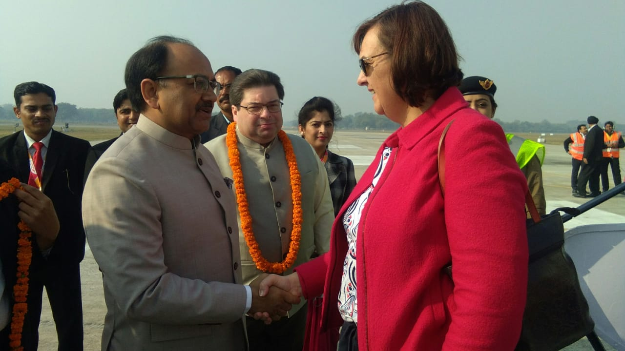 Diplomats from 71 countries of the world reached the confluence coast