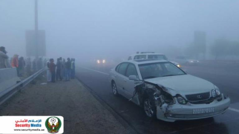 Unnao road accident fog