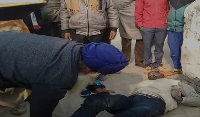deadbody of a person founds in temple