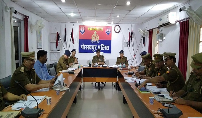 Review meeting of Police in view of upcoming festival Holi and elections
