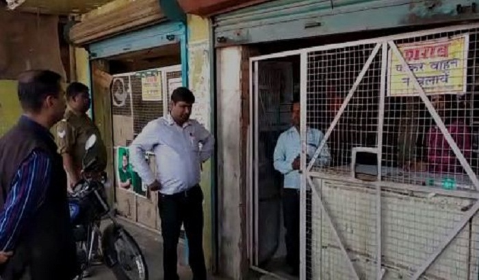 In view of Holi,adm. strict, SDM and CO examined several liquor shops
