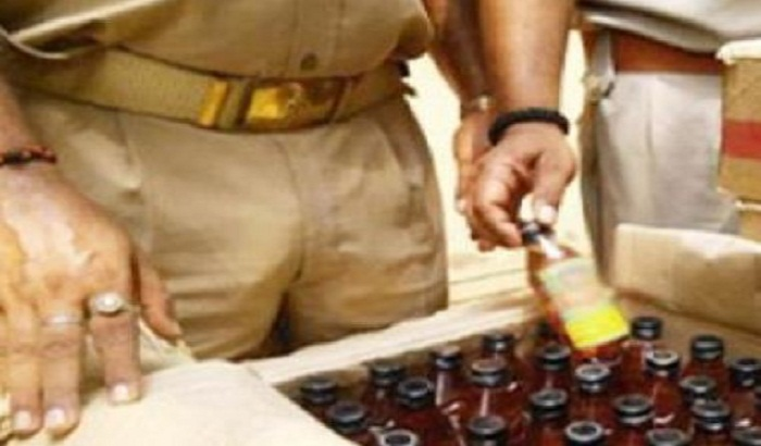 8000 liters of illicit liquor destroyed in the Gajipur region