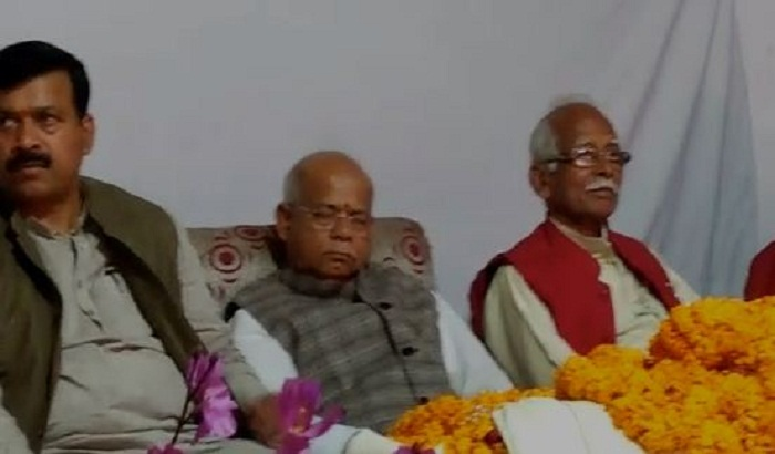 The BJP leader were counting the achievements of the government