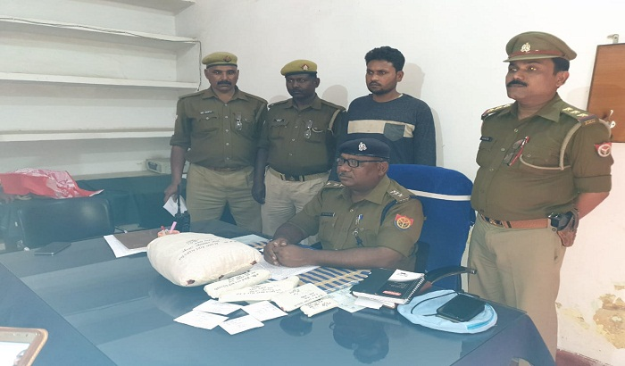 With mobile,illegal Katta and Ganja criminal was came in police custody