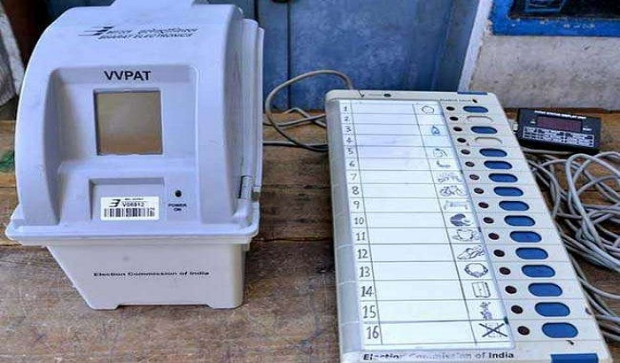 Election Commission of India is giving Demo at EVM and VVPAT machines