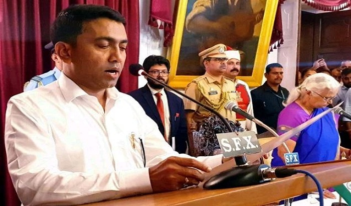 Pramod Sawant sworn in as Chief Minister of Goa