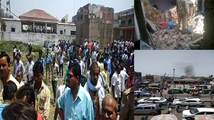 Blast in Illegal Crackers Factory in Mohanlalganj Lucknow