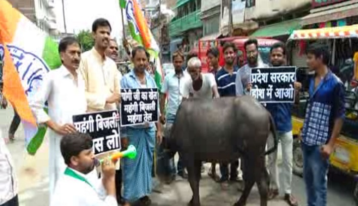 Congress workers Protested